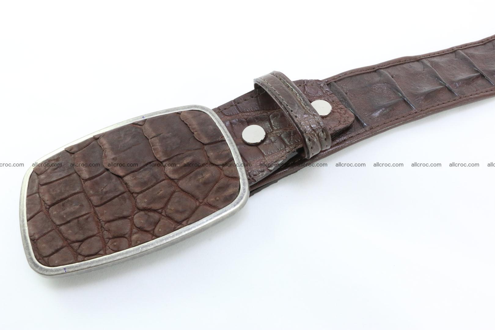 Genuine crocodile leather hornback belt 086 Foto 2