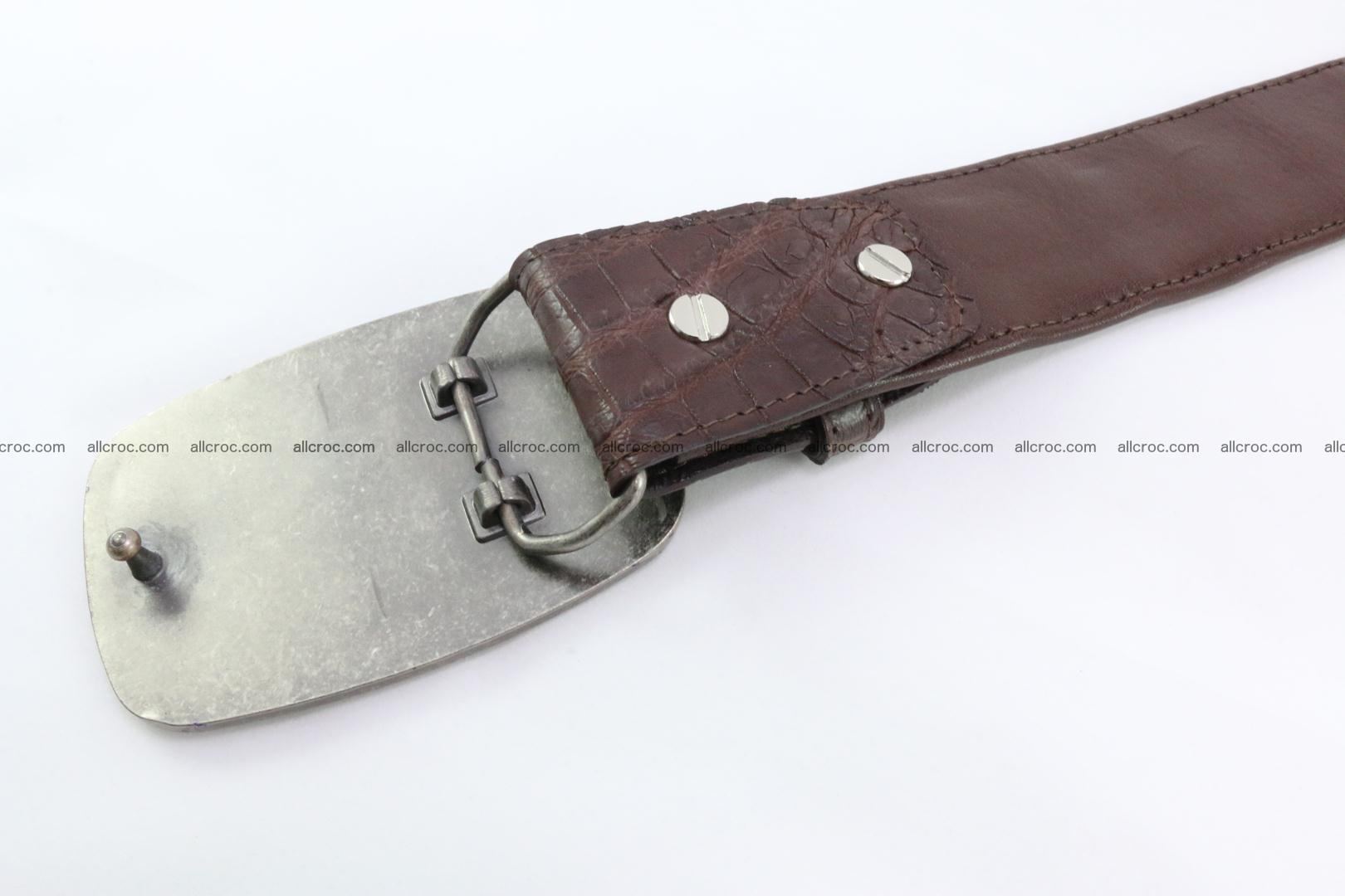 Genuine crocodile leather hornback belt 086 Foto 4