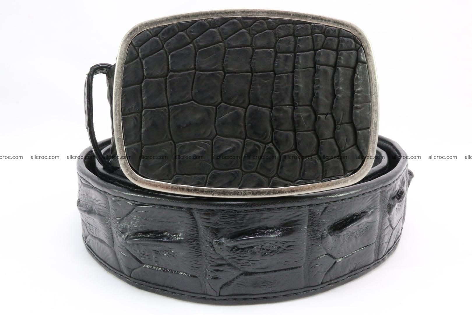 Genuine crocodile leather hornback belt 085 Foto 1