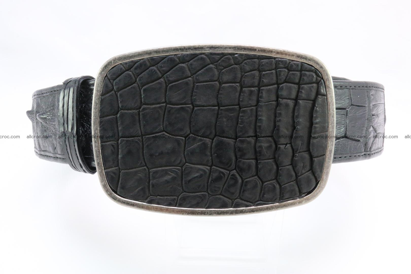Genuine crocodile leather hornback belt 085 Foto 0