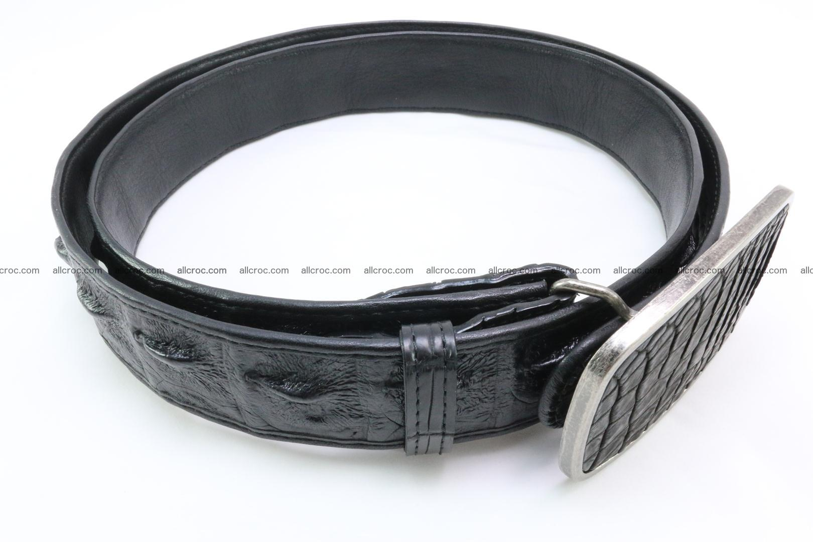Genuine crocodile leather hornback belt 085 Foto 2