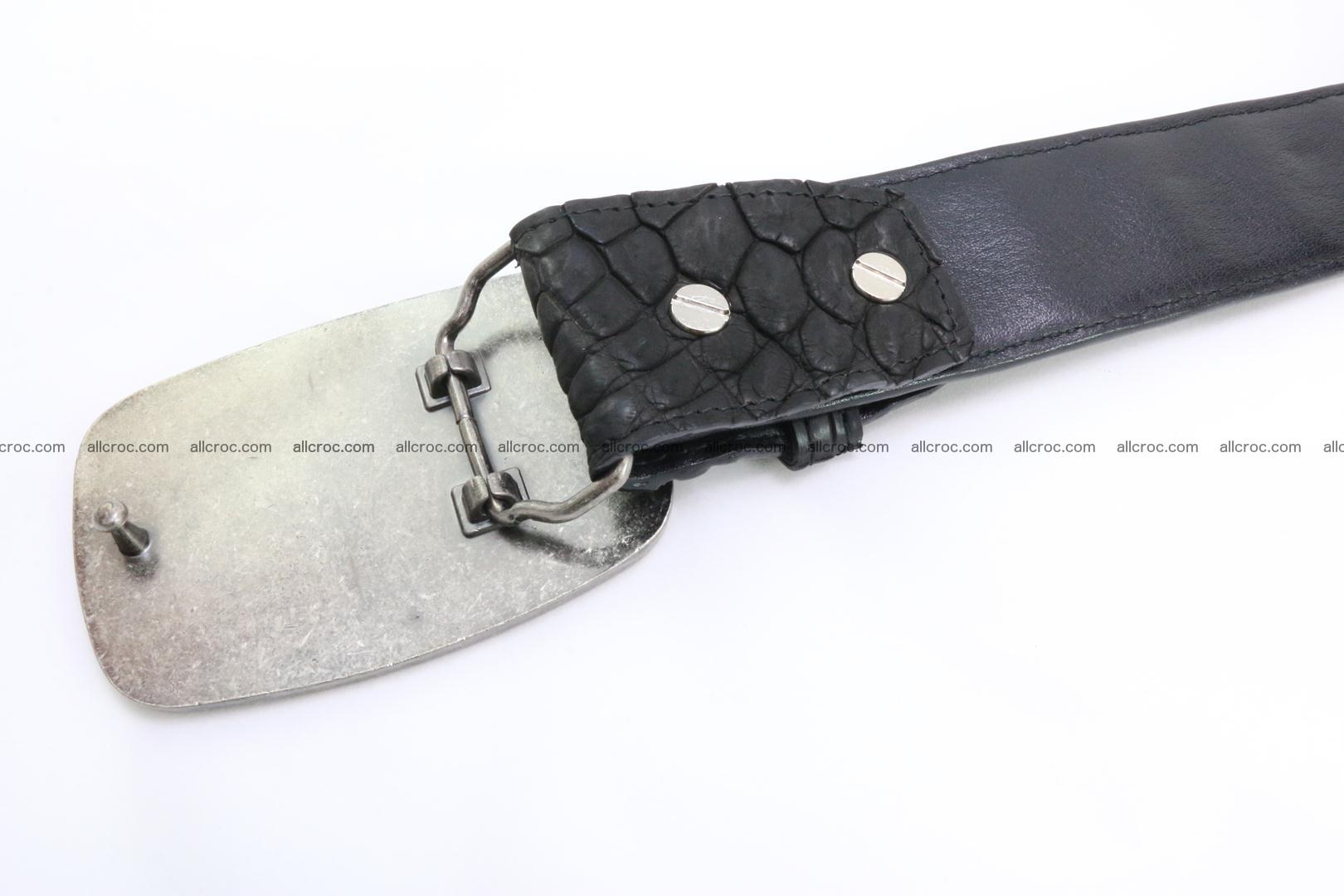 Genuine crocodile leather hornback belt 085 Foto 4