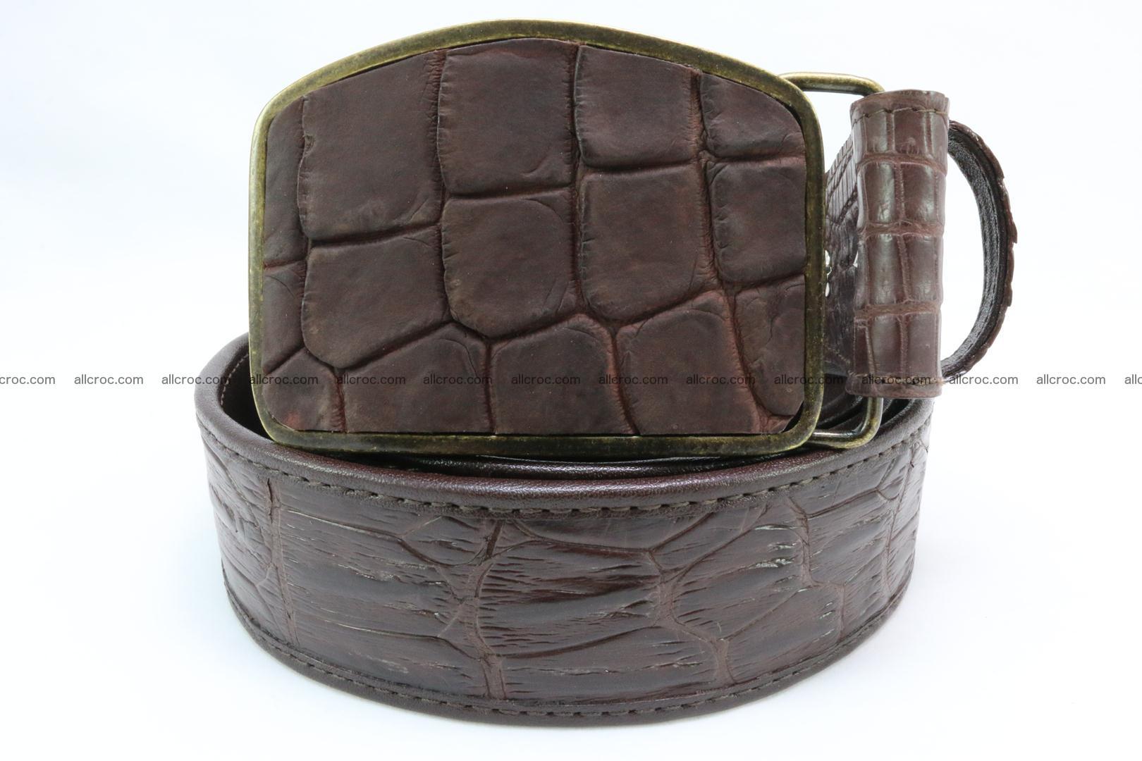 Genuine crocodile leather hornback belt 084 Foto 1