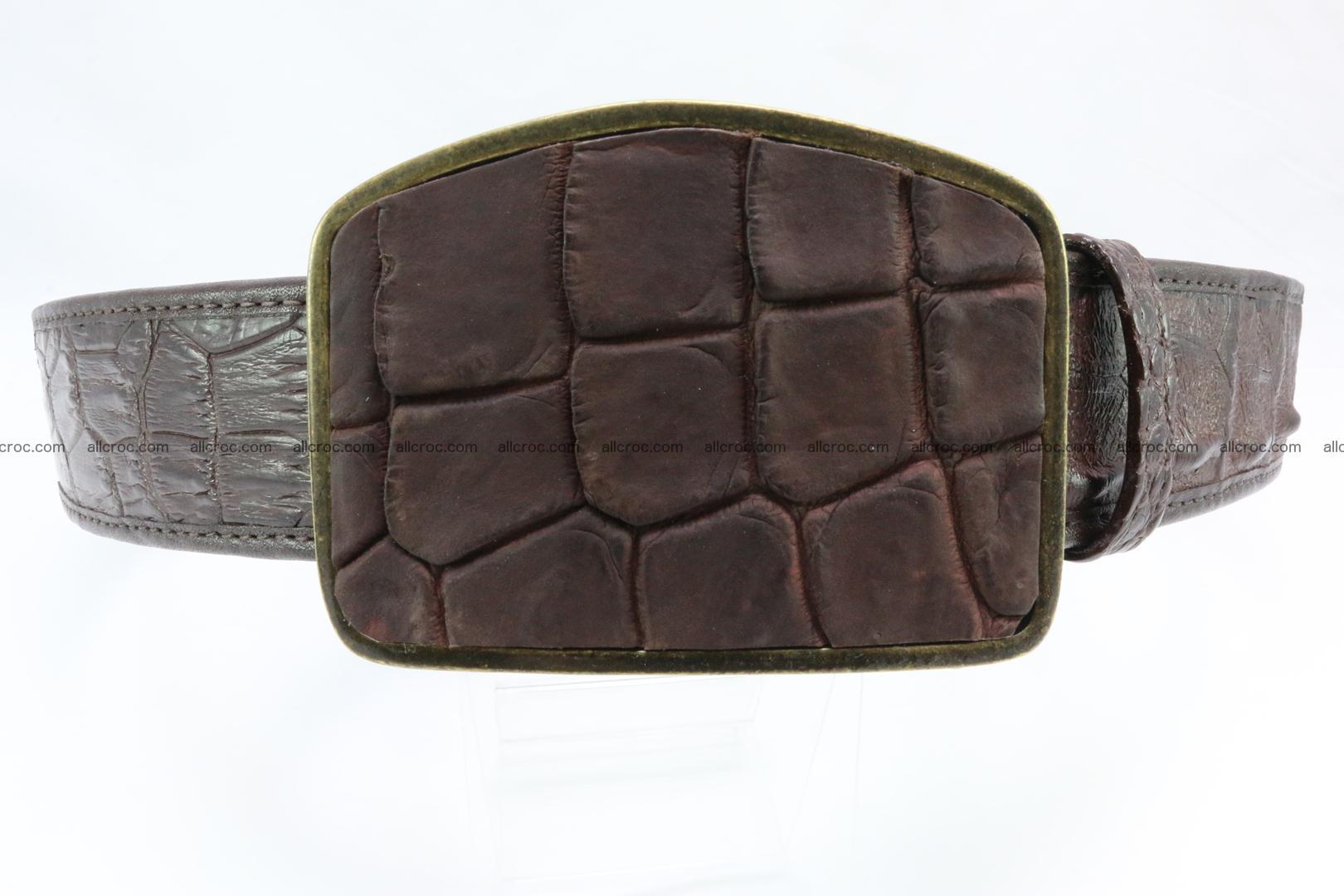 Genuine crocodile leather hornback belt 084 Foto 0