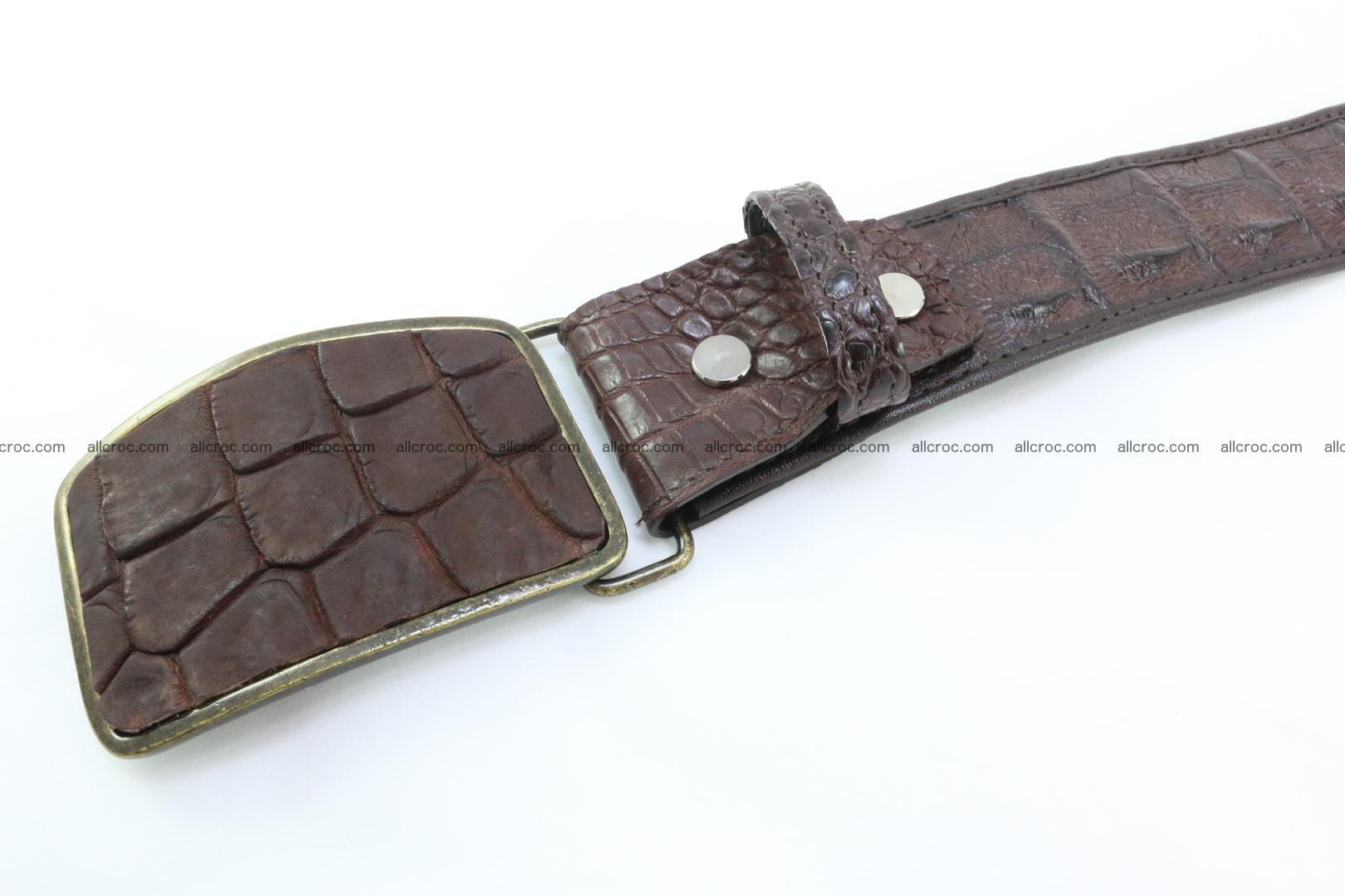 Genuine crocodile leather hornback belt 084 Foto 2