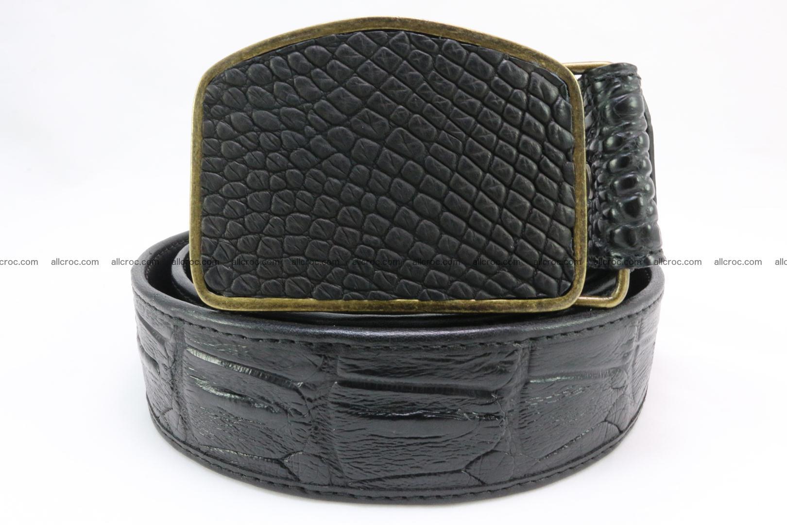Genuine crocodile leather hornback belt 083 Foto 2