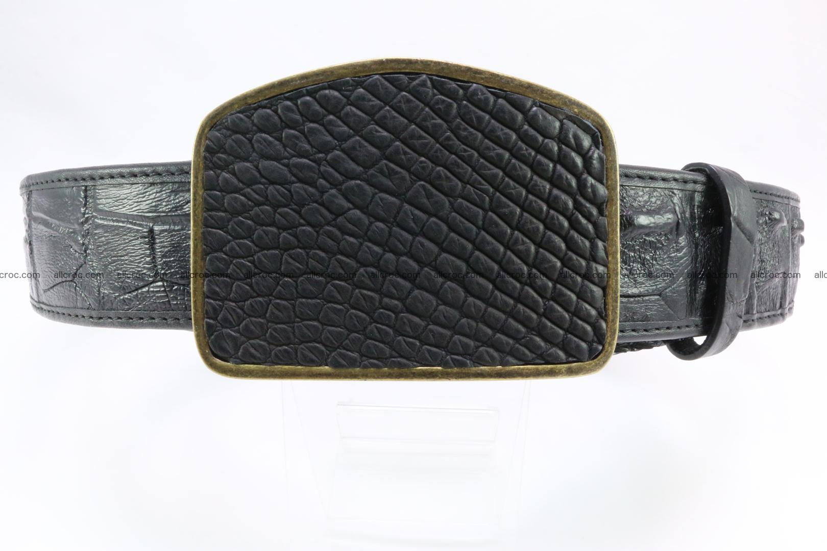 Genuine crocodile leather hornback belt 083 Foto 0
