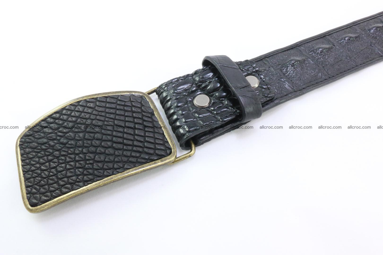 Genuine crocodile leather hornback belt 083 Foto 1