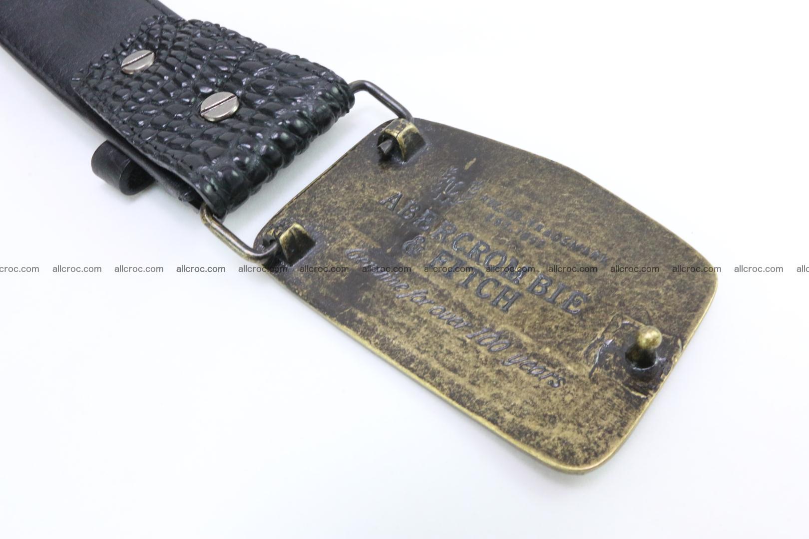 Genuine crocodile leather hornback belt 083 Foto 3