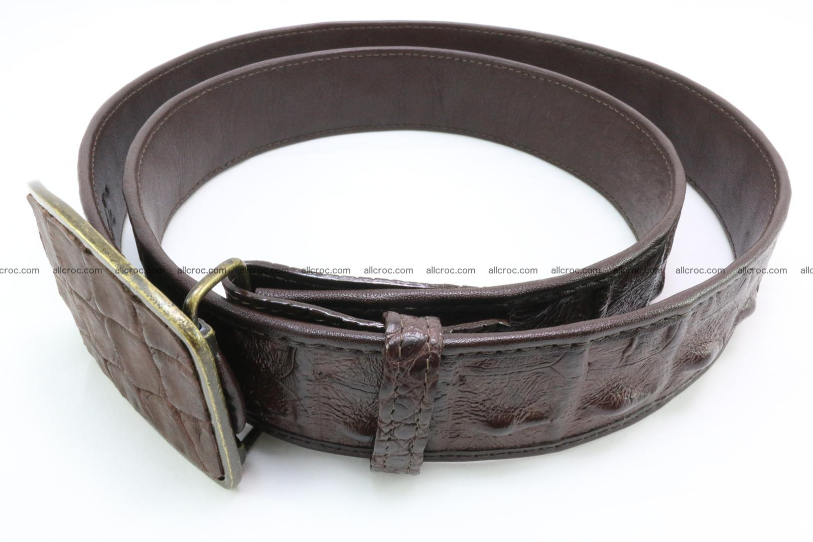 Genuine crocodile leather hornback belt 084 Foto 4