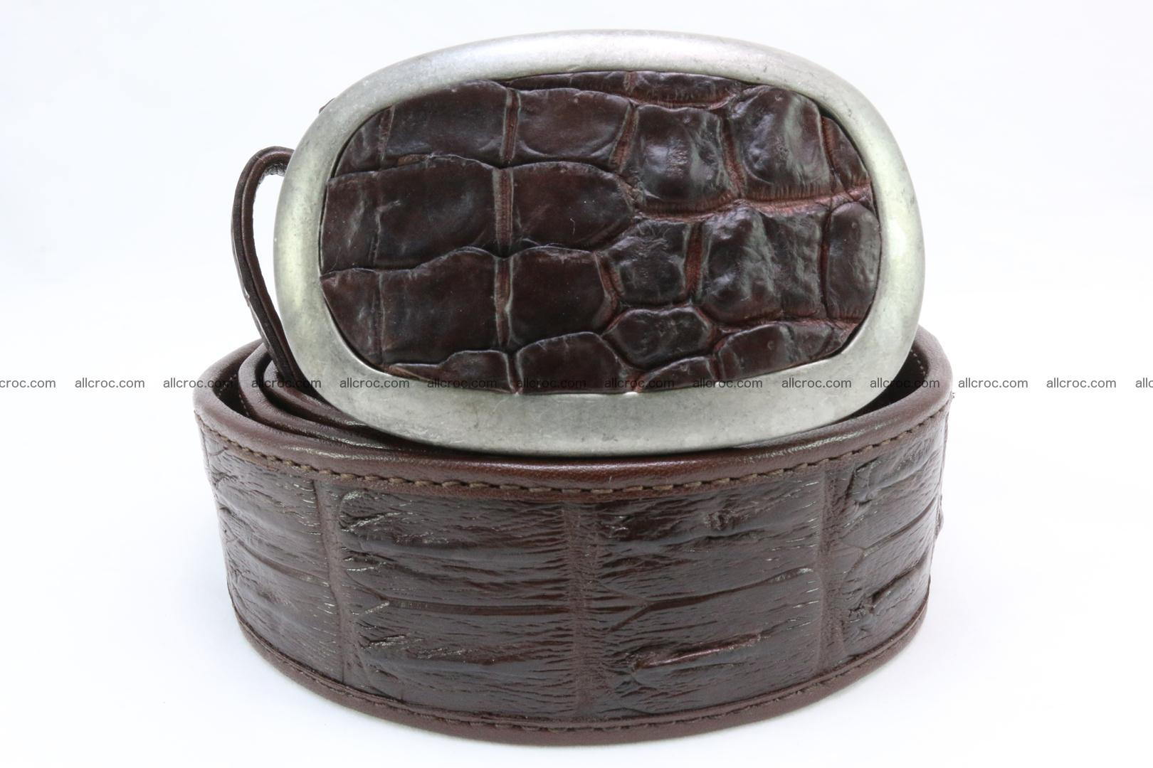 Genuine crocodile leather hornback belt 082 Foto 1