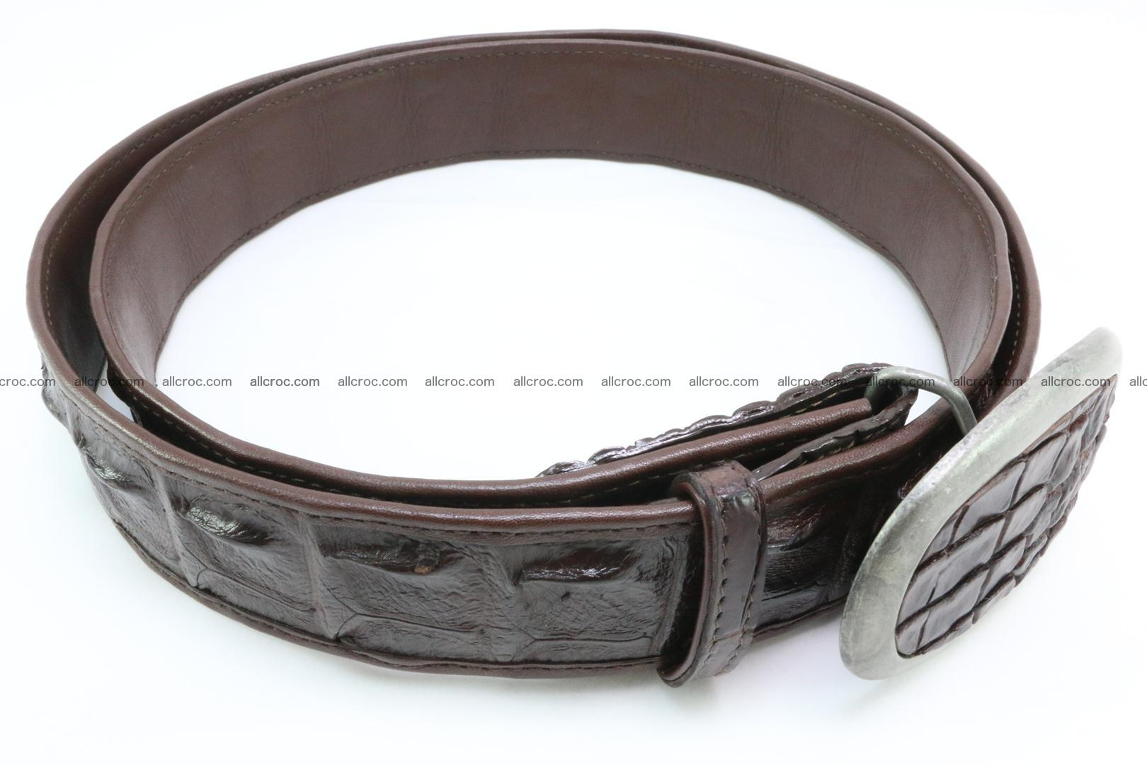 Genuine crocodile leather hornback belt 082 Foto 2
