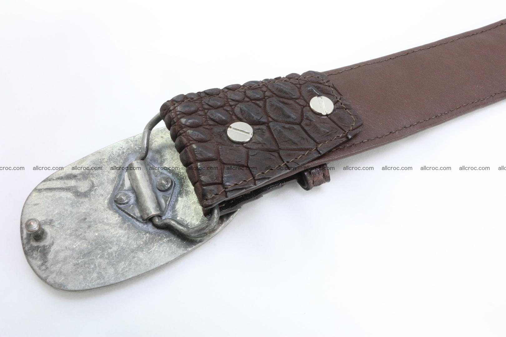 Genuine crocodile leather hornback belt 082 Foto 4