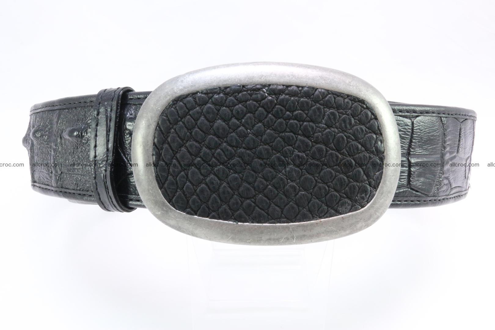 Genuine crocodile leather hornback belt 081 Foto 0