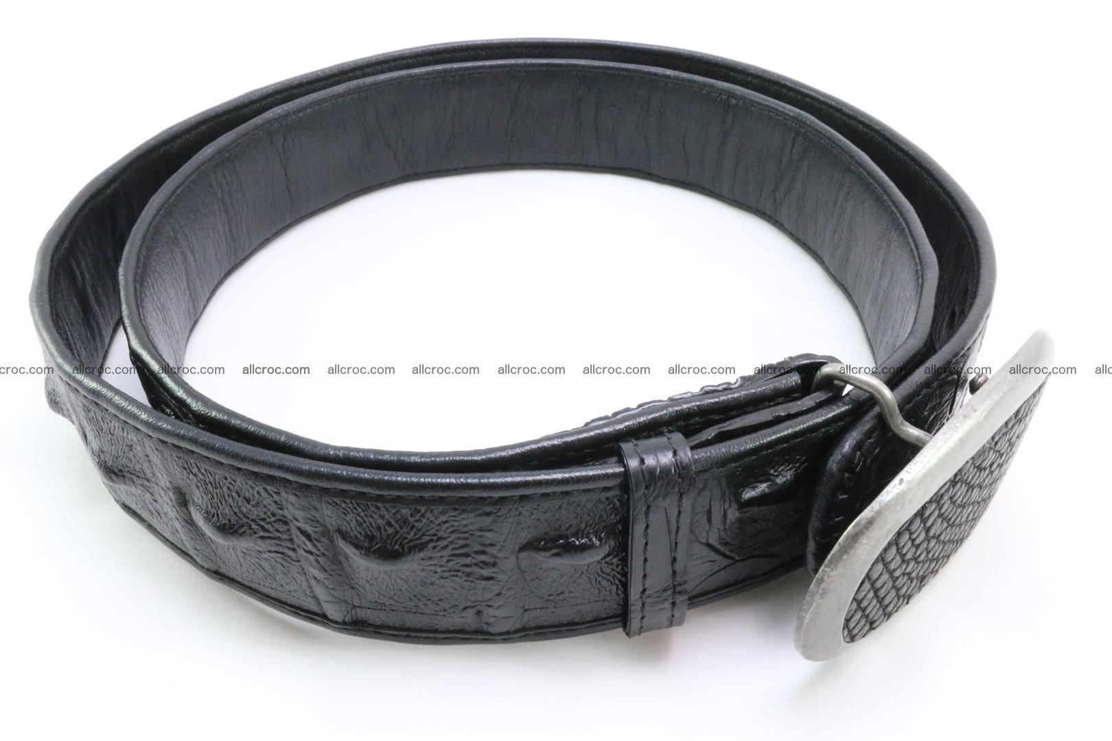 Genuine crocodile leather hornback belt 081 Foto 2