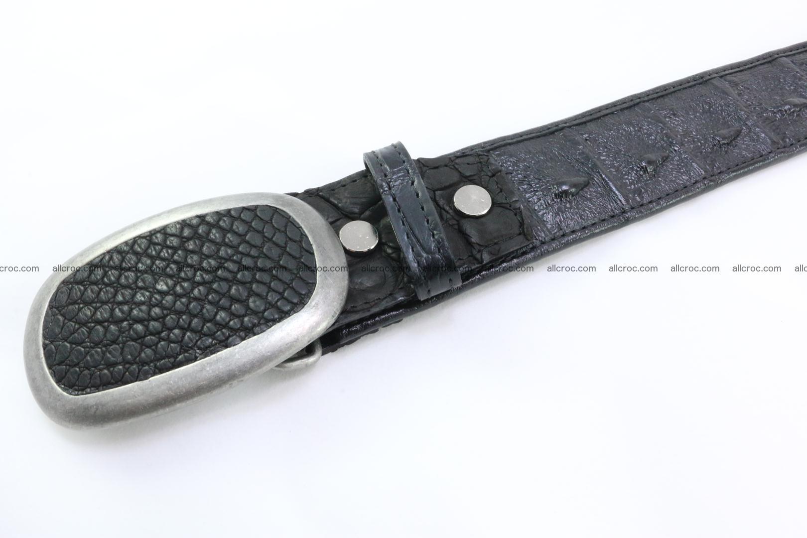 Genuine crocodile leather hornback belt 081 Foto 4