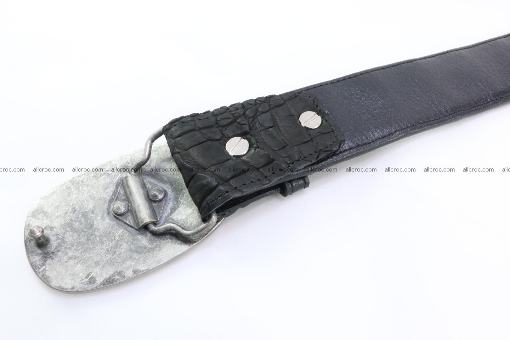 Genuine crocodile leather hornback belt 081 Foto 3