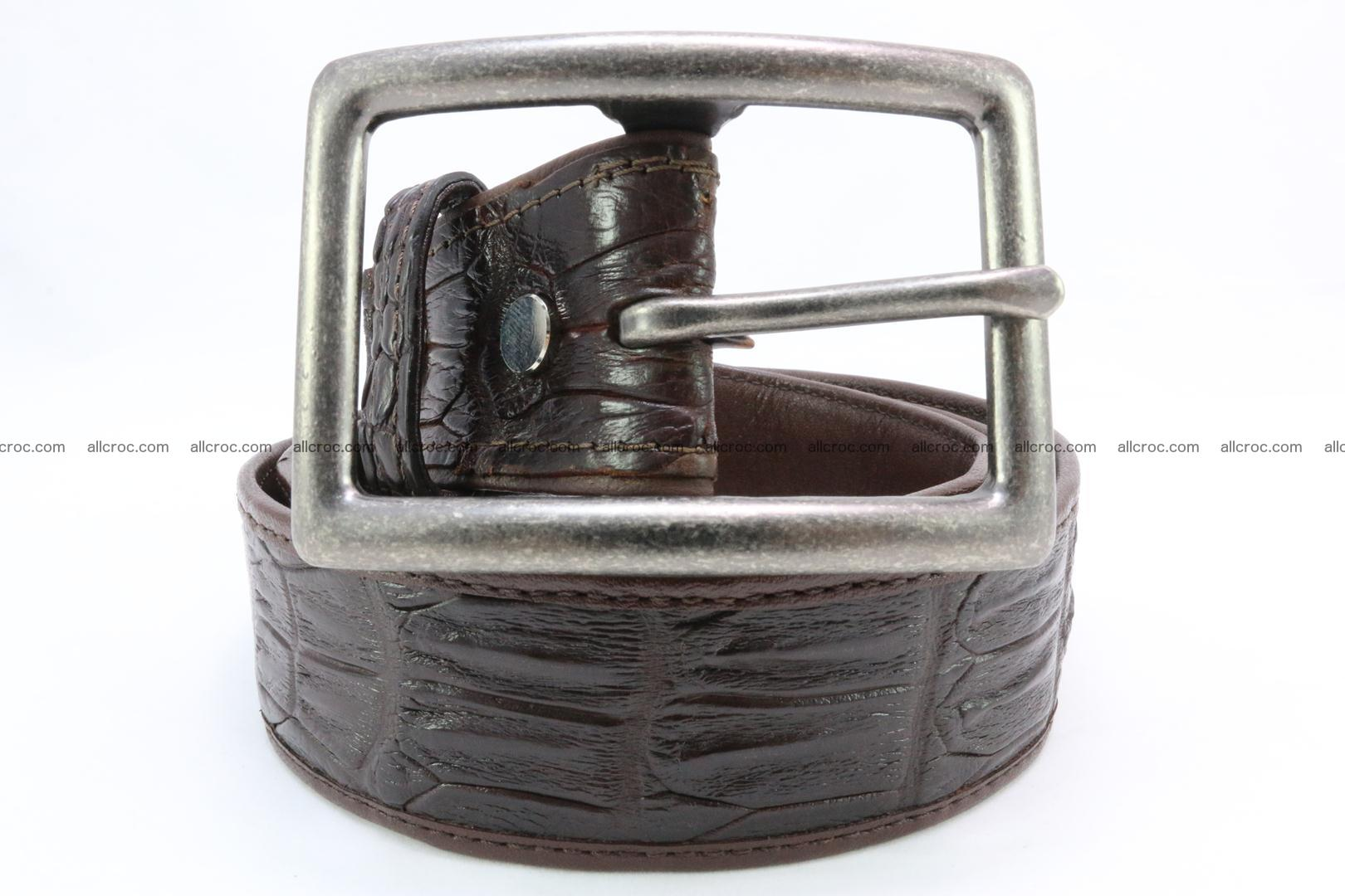 Genuine crocodile leather hornback belt 078 Foto 1