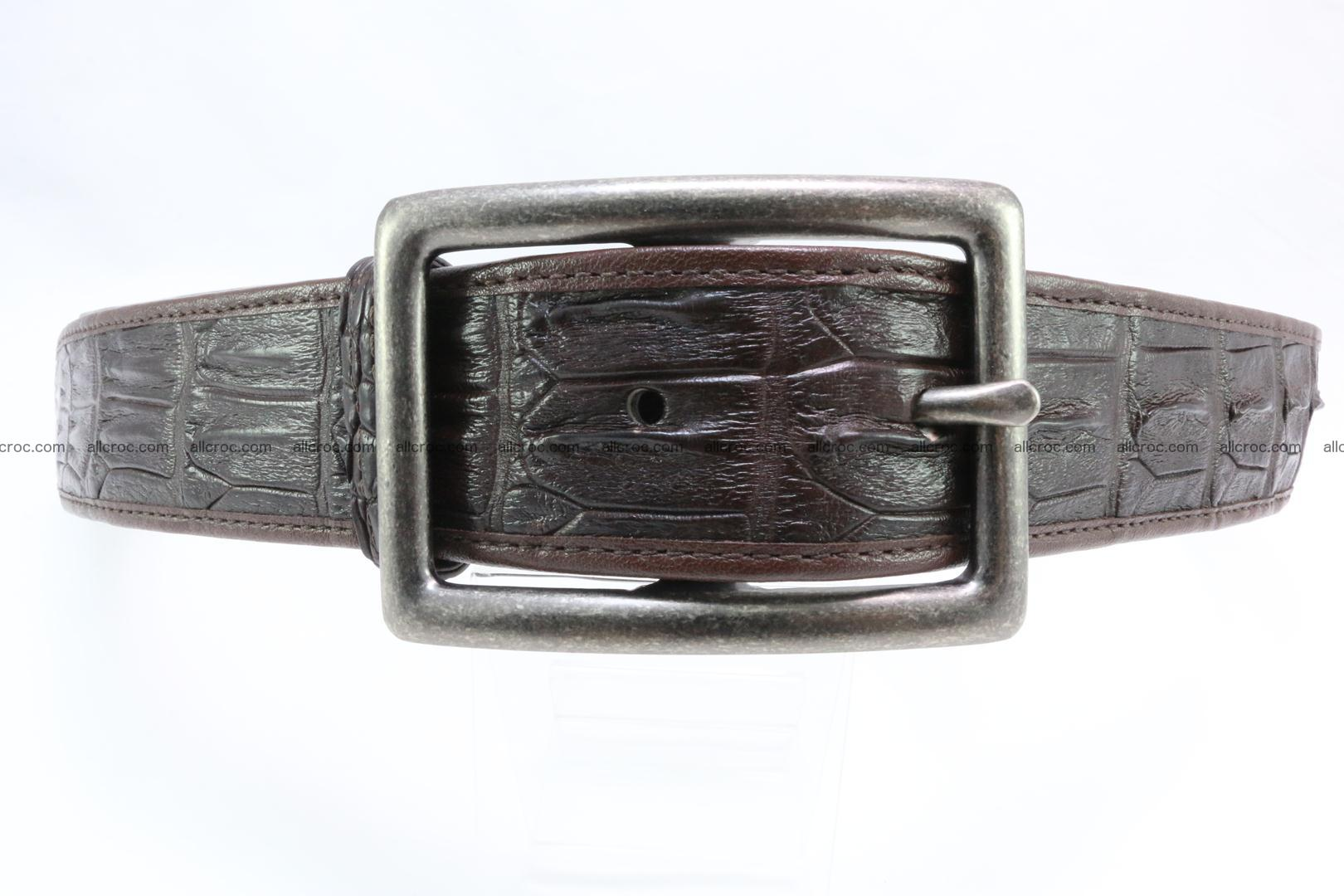 Genuine crocodile leather hornback belt 078 Foto 0