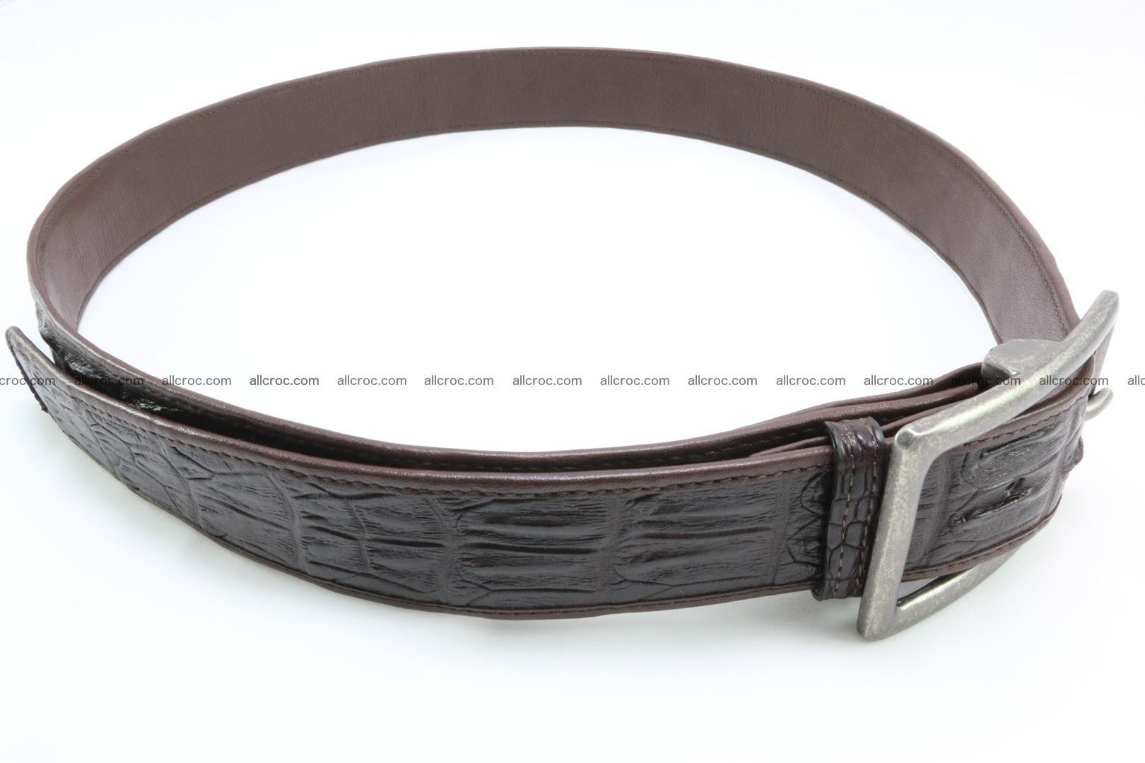 Genuine crocodile leather hornback belt 078 Foto 4