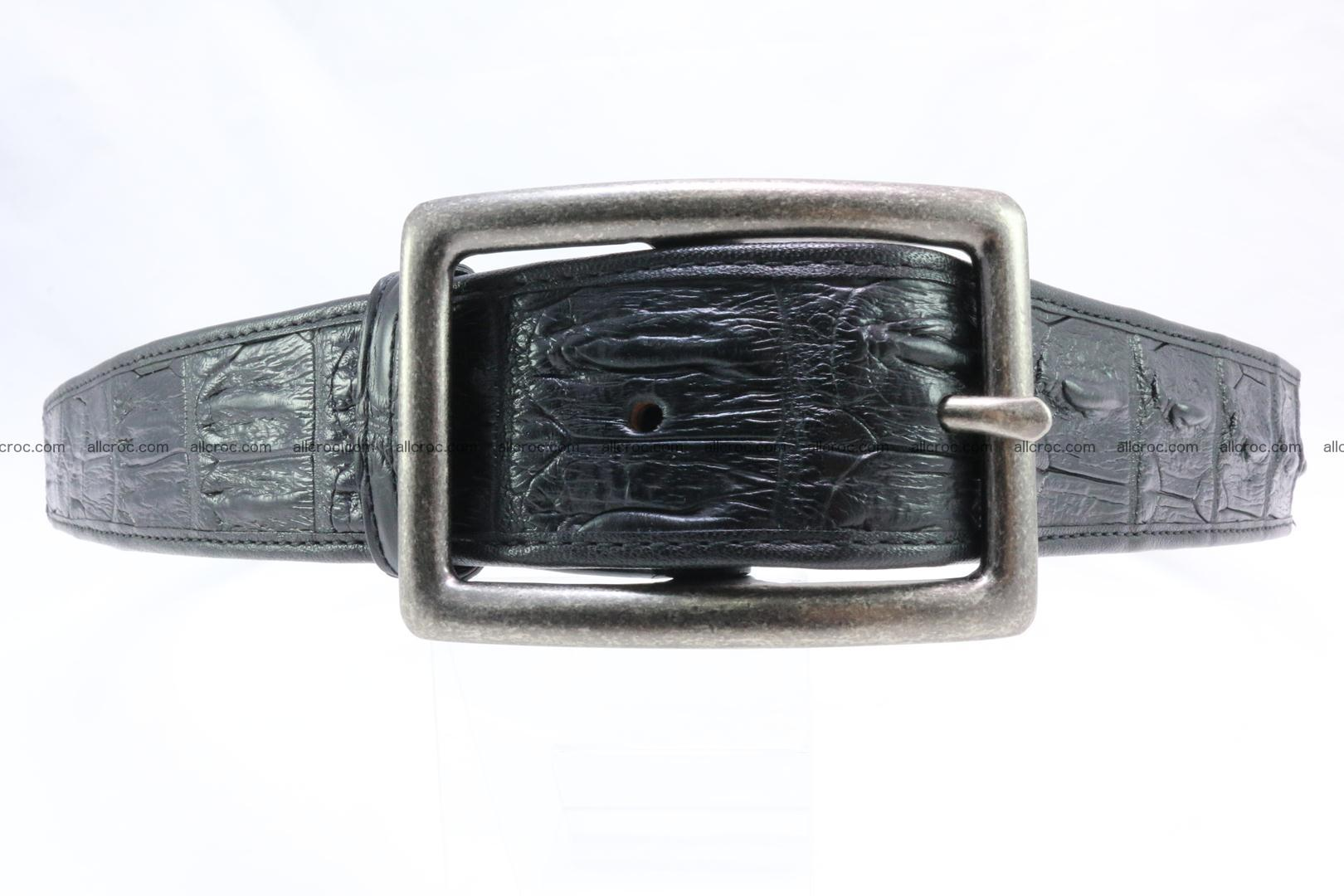 Genuine crocodile leather hornback belt 077 Foto 0