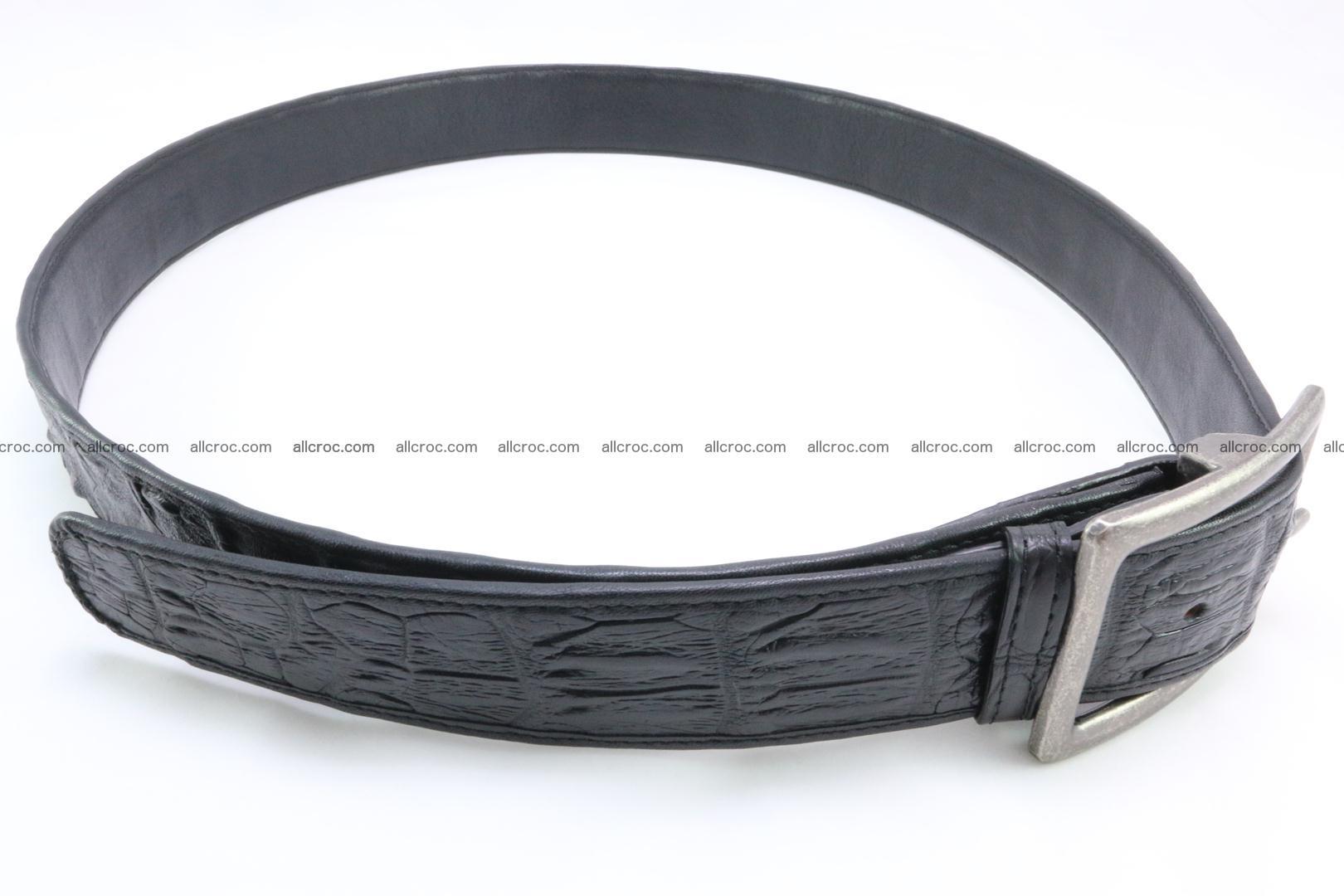 Genuine crocodile leather hornback belt 077 Foto 2