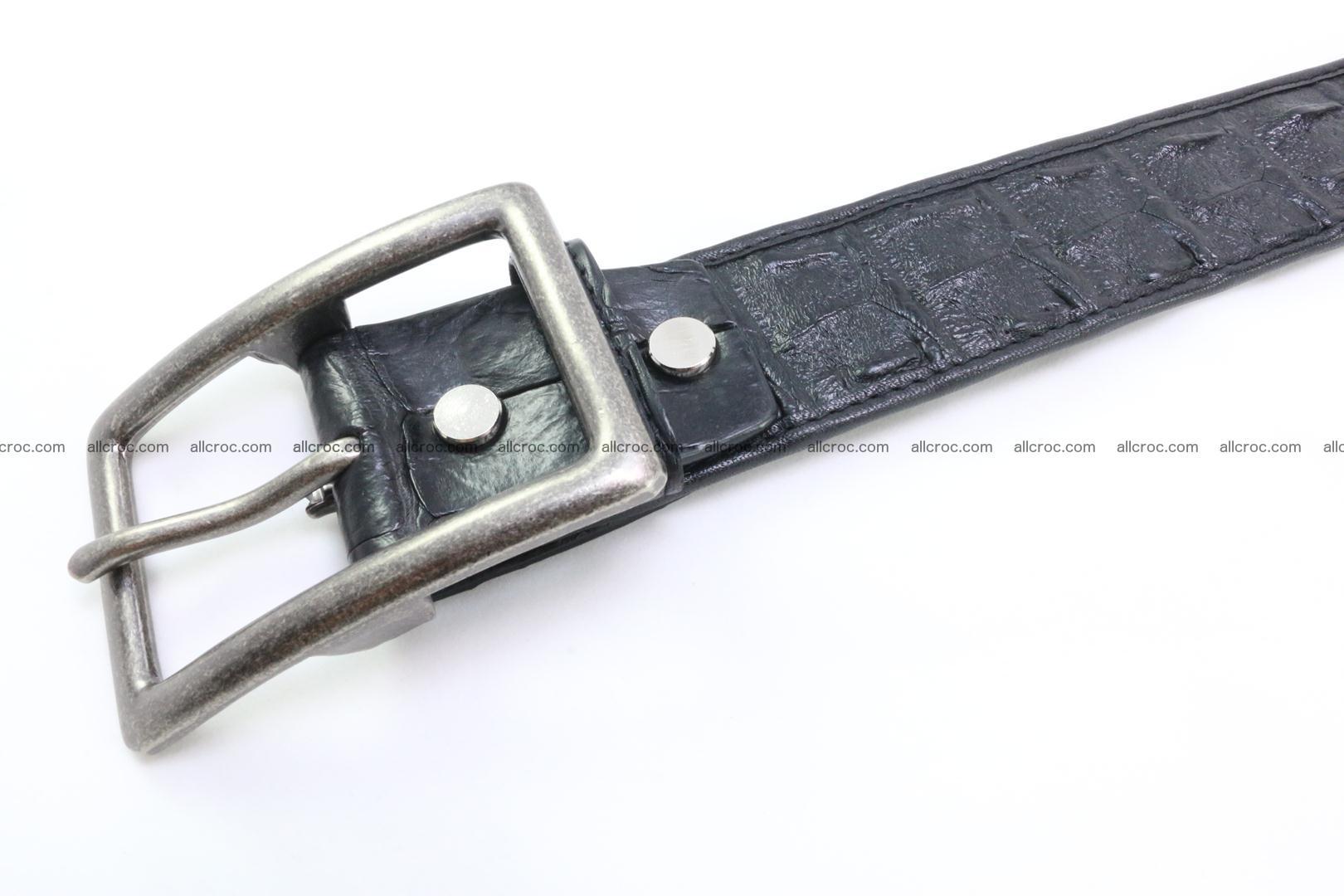 Genuine crocodile leather hornback belt 077 Foto 4