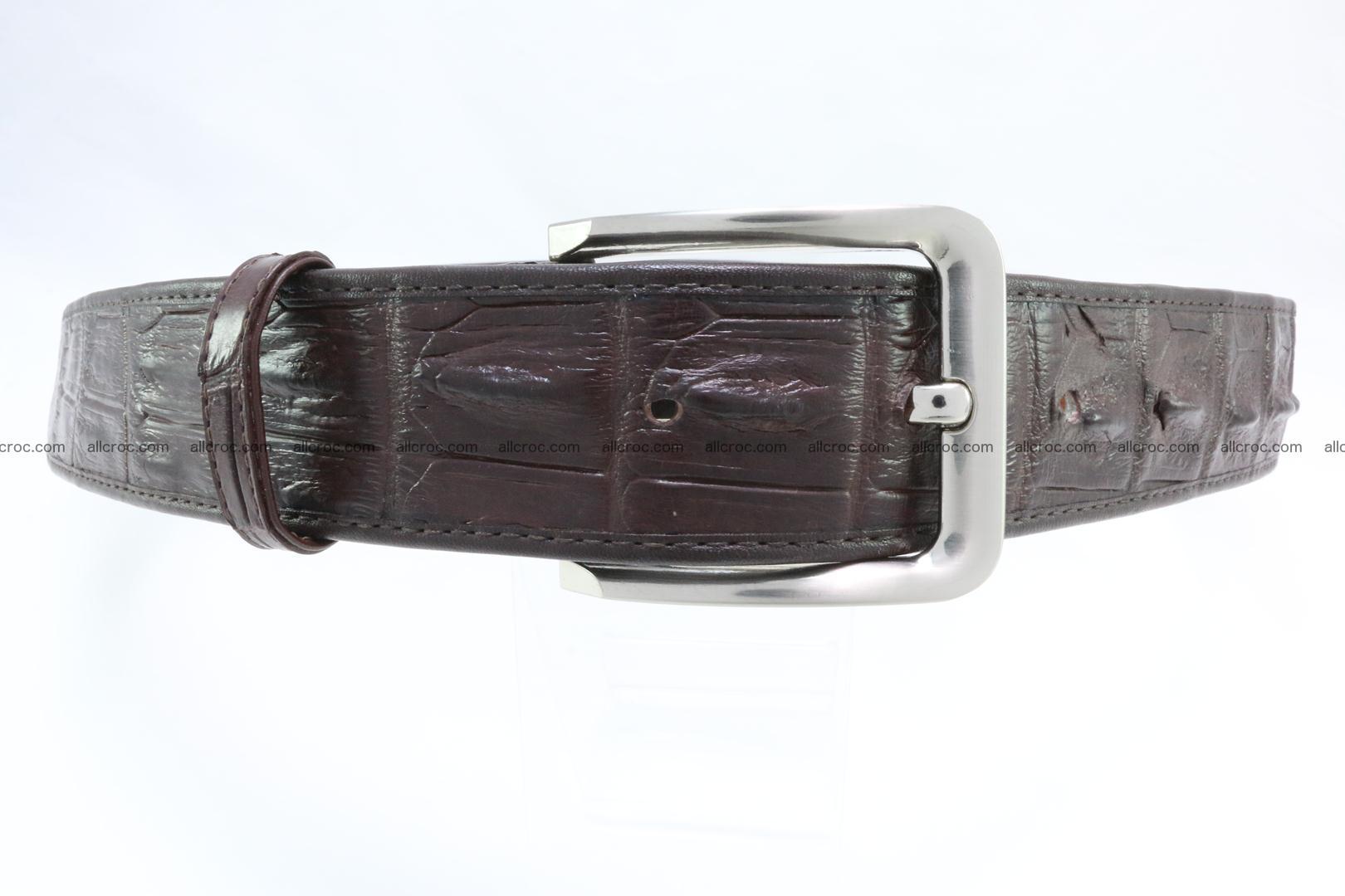 Genuine crocodile leather hornback belt 076 Foto 0