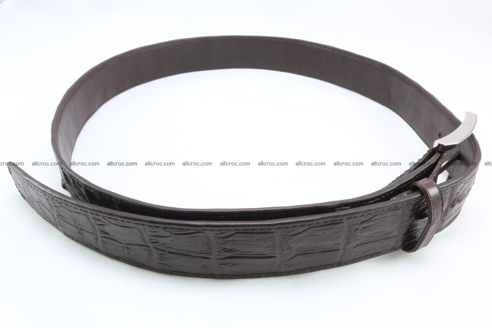 Genuine crocodile leather hornback belt 076 Foto 2