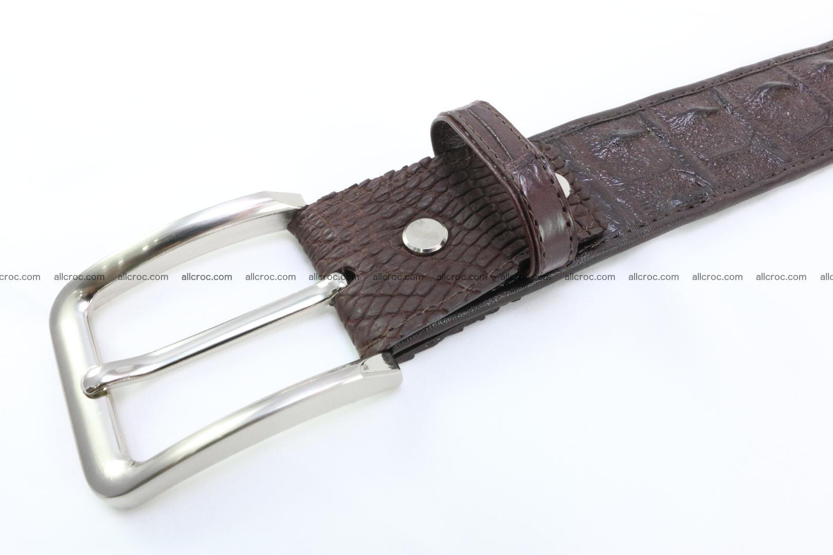 Genuine crocodile leather hornback belt 076 Foto 3