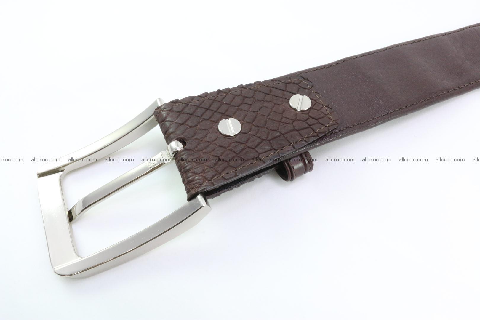 Genuine crocodile leather hornback belt 076 Foto 4