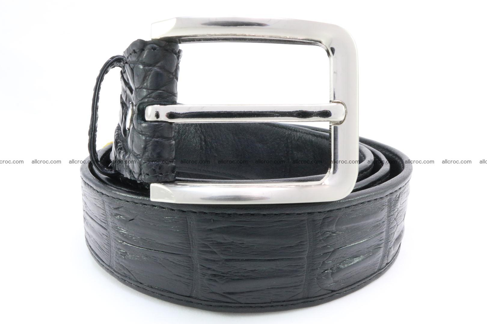 Genuine crocodile leather hornback belt 075 Foto 1