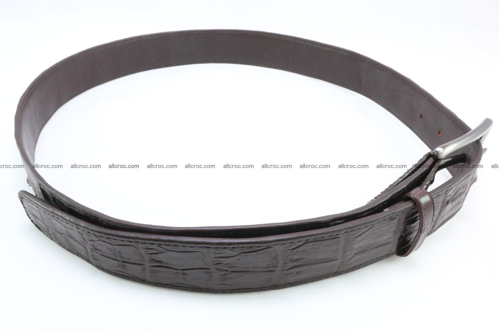 Genuine crocodile leather hornback belt 074 Foto 4