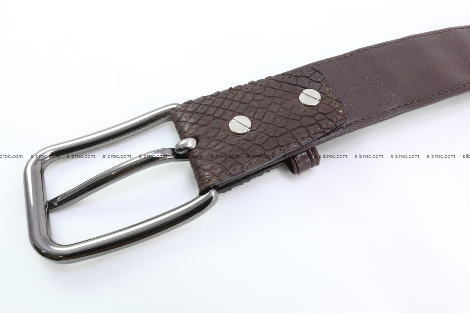 Genuine crocodile leather hornback belt 074 Foto 3