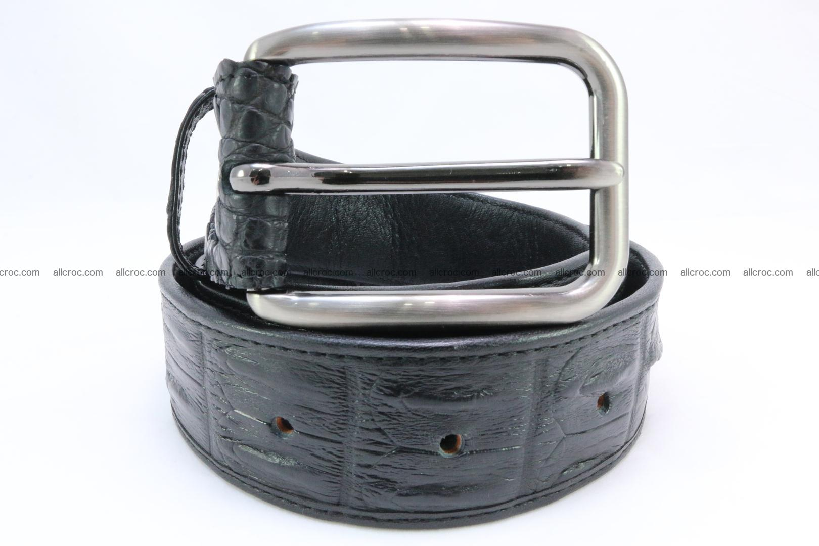 Genuine crocodile leather hornback belt 073 Foto 1