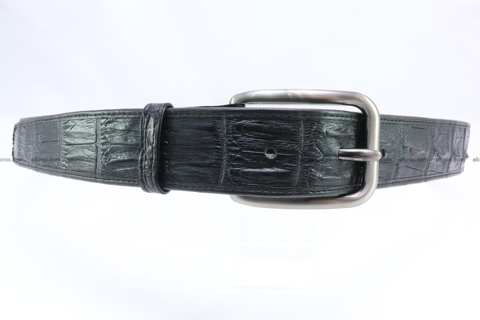 Genuine crocodile leather hornback belt 073 Foto 0