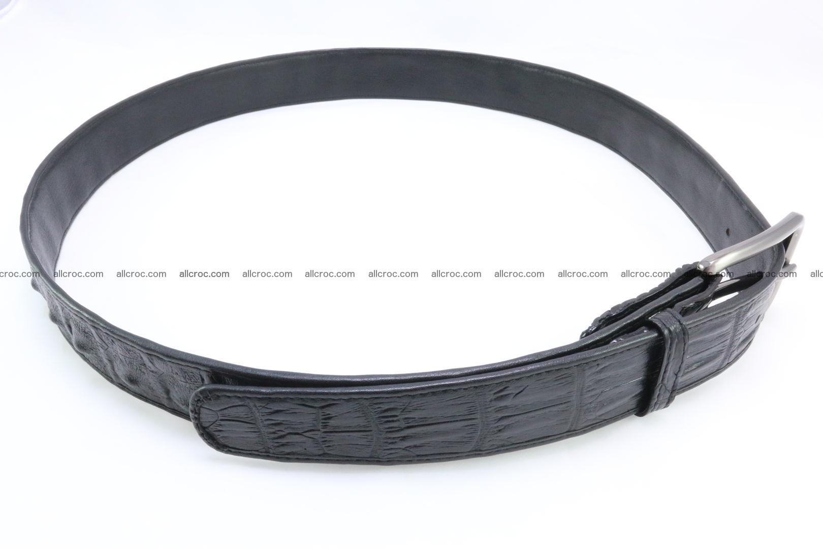 Genuine crocodile leather hornback belt 073 Foto 4