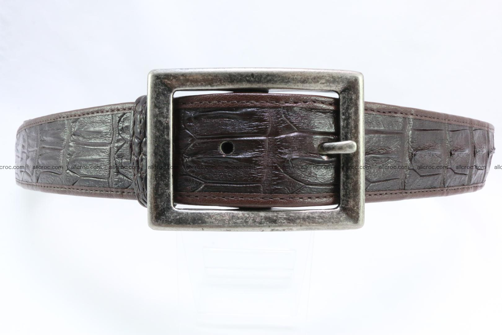 Genuine crocodile leather hornback belt 072 Foto 0