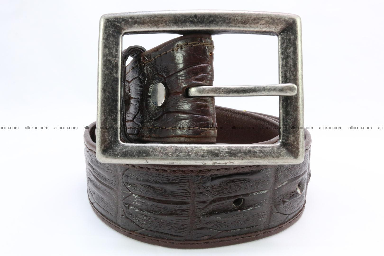 Genuine crocodile leather hornback belt 072 Foto 1