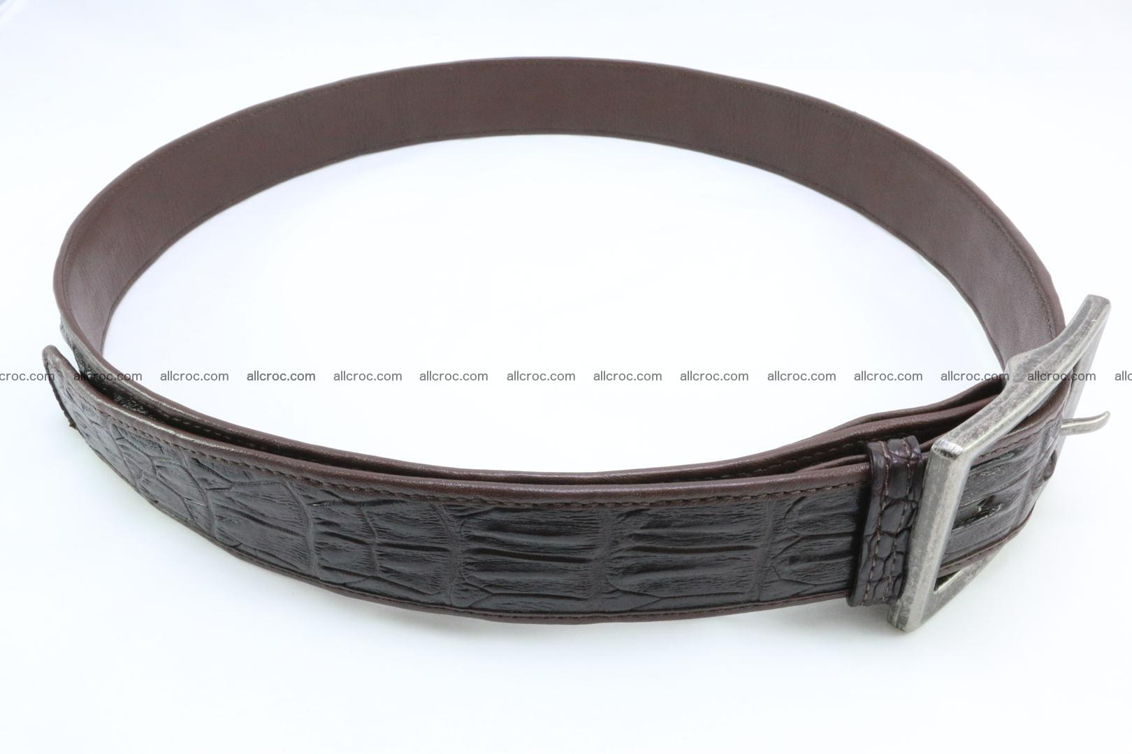 Genuine crocodile leather hornback belt 072 Foto 3