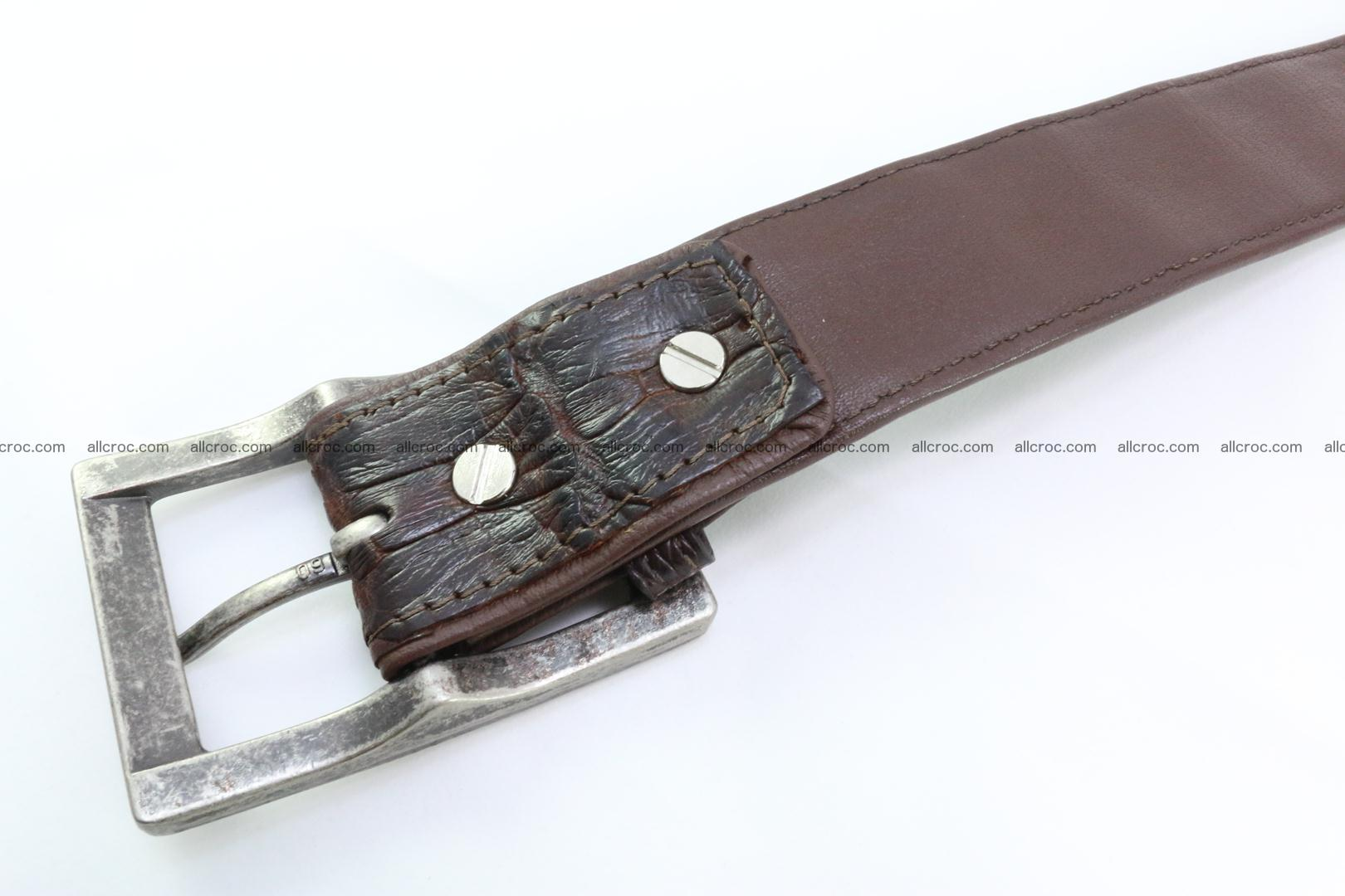 Genuine crocodile leather hornback belt 072 Foto 4
