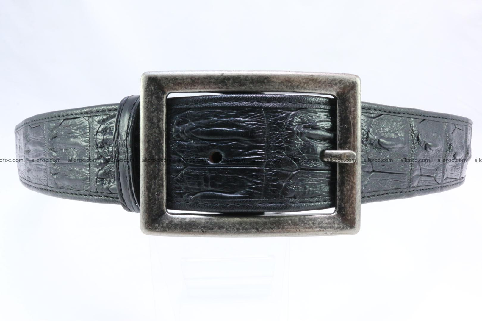 Genuine crocodile leather hornback belt 071 Foto 0