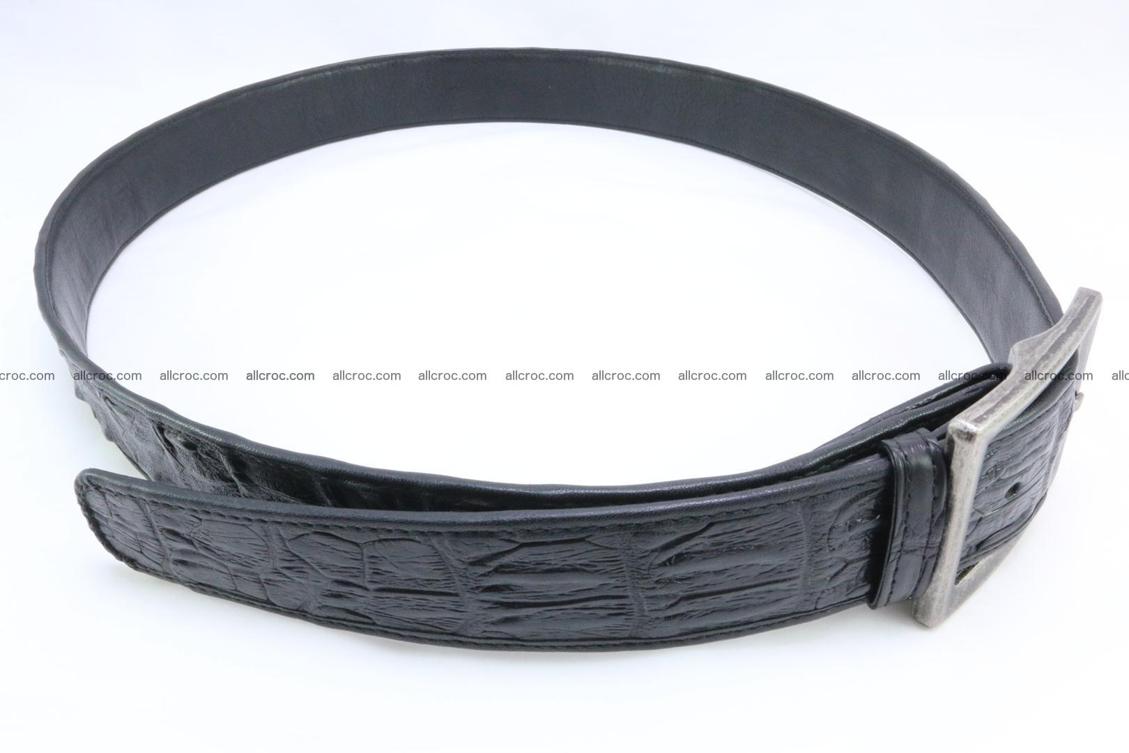 Genuine crocodile leather hornback belt 071 Foto 2