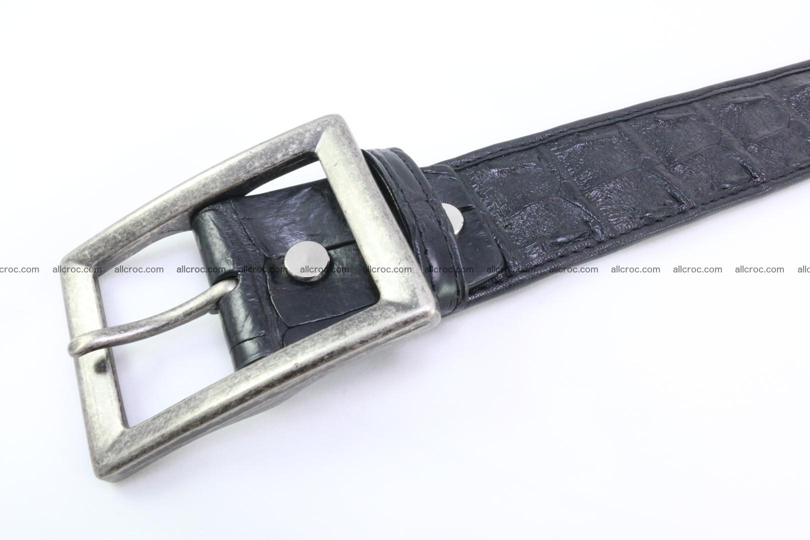 Genuine crocodile leather hornback belt 071 Foto 3