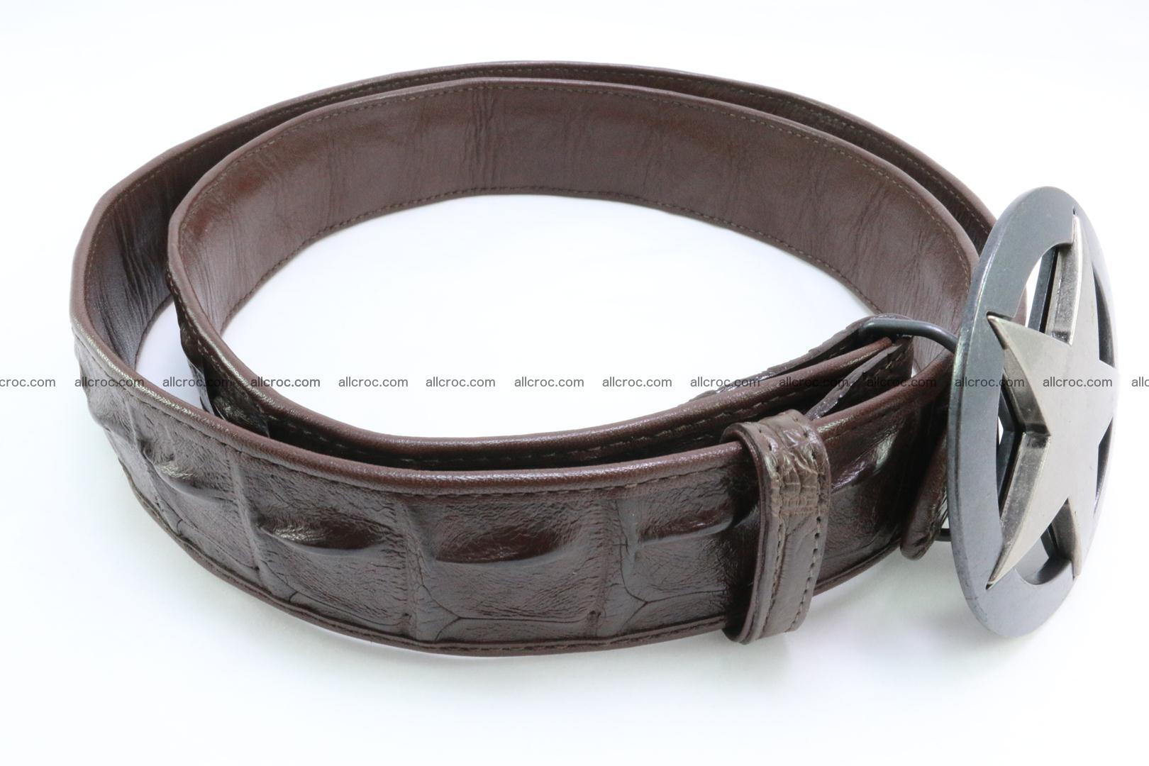 Genuine crocodile leather hornback belt 070 Foto 3
