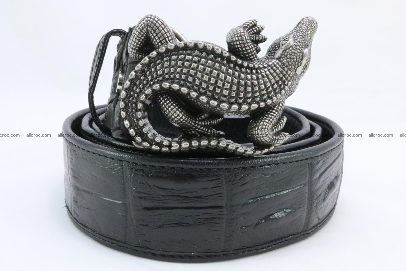 Genuine crocodile leather hornback belt 079 Foto 12