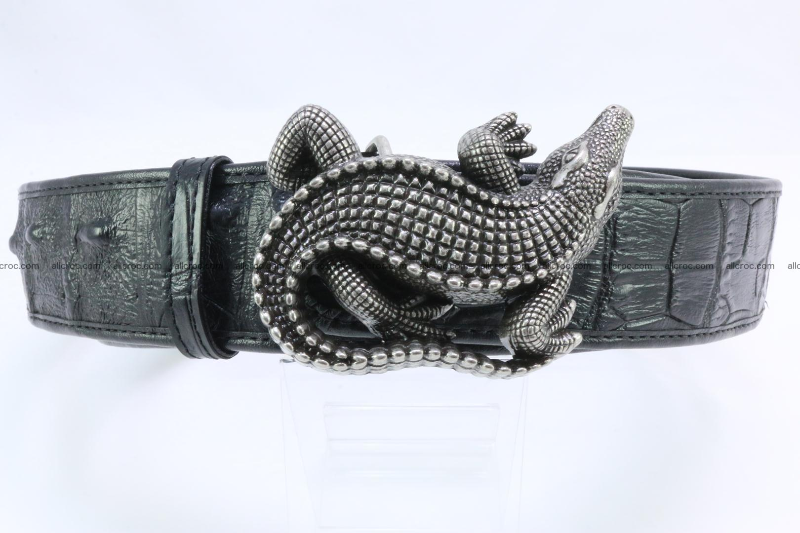 Genuine crocodile leather hornback belt 079 Foto 11