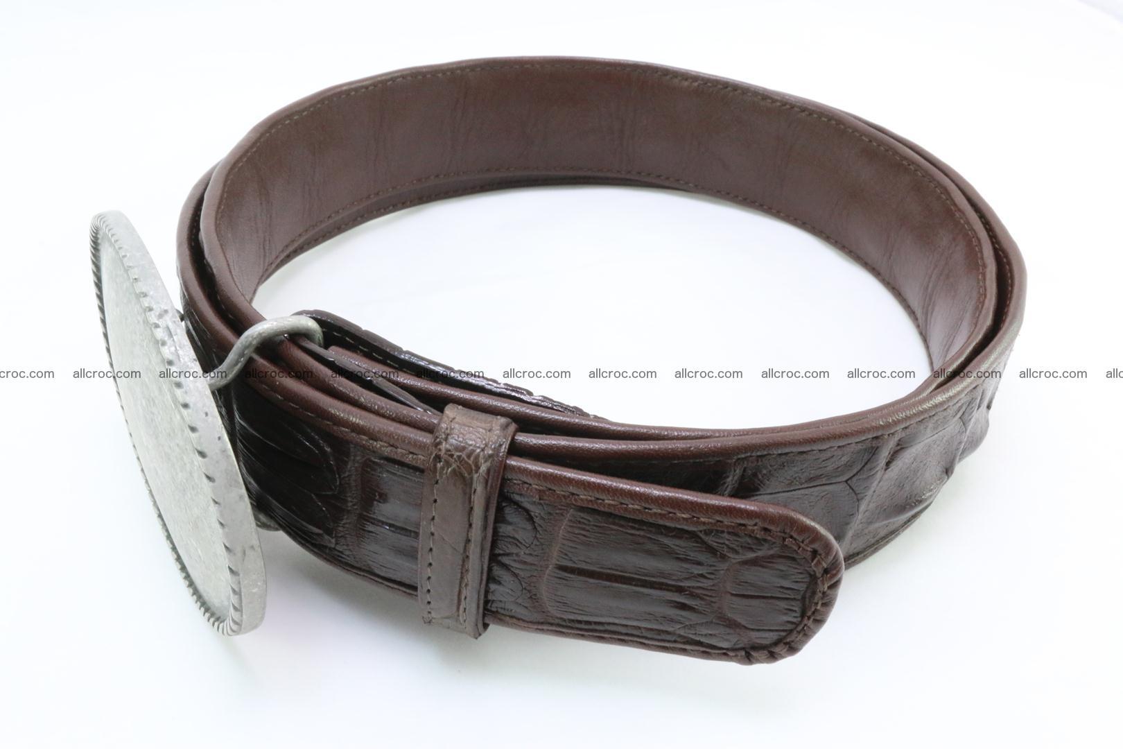 Genuine crocodile leather hornback belt 068 Foto 2