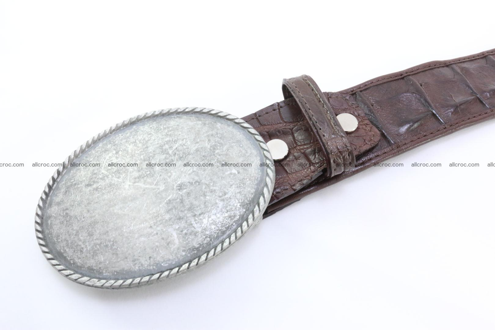 Genuine crocodile leather hornback belt 068 Foto 3