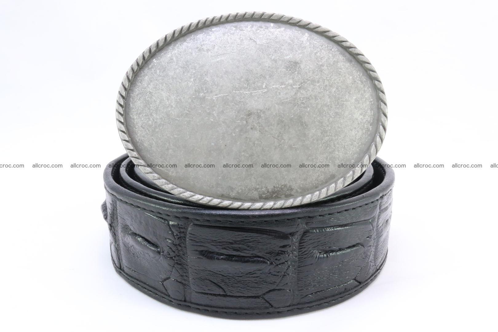 Genuine crocodile leather hornback belt 067 Foto 1